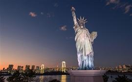 Preview wallpaper Odaiba Statue of Liberty, Tokyo, Japan