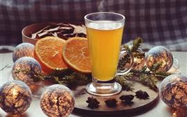 Preview wallpaper Orange drinks, juicy, balls
