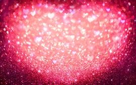 Coeur d'amour rose, brillance, paillettes