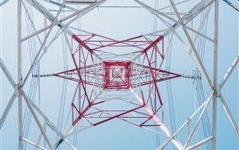 Preview wallpaper Power line tower