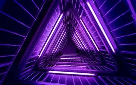 Luzes de néon roxas, escada