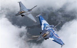 Rafale multi-role fighter, French