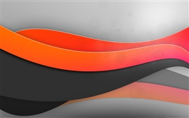 Preview wallpaper Red and black curves, abstract picture