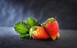 Preview wallpaper Ripe strawberry, fruit