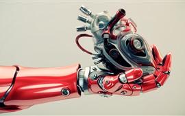 Робототехника, рука, сердце, высокие технологии