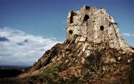 Vorschau des Hintergrundbilder Ruinen, Berg, Himmel