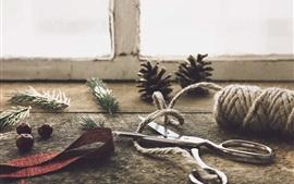 Ciseaux et corde