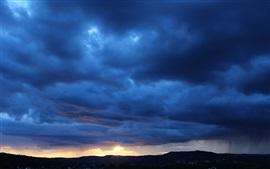 Sky, clouds, dusk, sunset