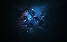Preview wallpaper Space, galaxy, nebula, darkness