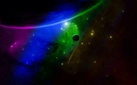壁紙のプレビュー 宇宙、惑星、緑色、青色