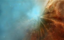 Космос, звезды, дым, свет