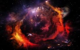 Estrelas, galáxia, nuvens, lindo espaço