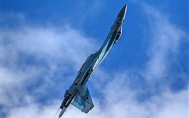 Preview wallpaper Su-35 fighter aerobatics