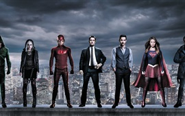Preview wallpaper Superheroes, Warner Bros TV series