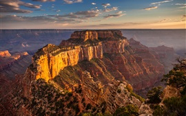 Preview wallpaper The Grand Canyon, mountains, rocks, sunset, USA