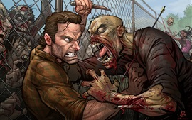 Preview wallpaper The Walking Dead, zombie, art picture