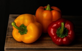 Preview wallpaper Three peppers, vegetable