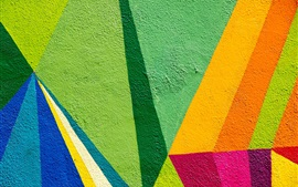 Pared, pintura colorida, graffiti