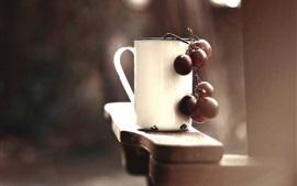 Copa blanca, uvas