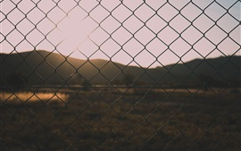 Wire fence, dusk