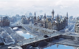 Preview wallpaper World of Tanks, Windstorm, city, winter