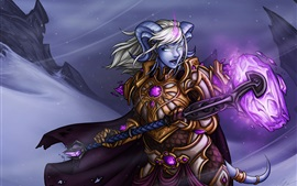 Yrel, World of Warcraft, chica, magia