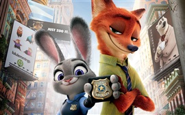 Zootopia, rabbit and fox