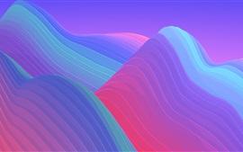 Montanhas abstratas, coloridas, curvas