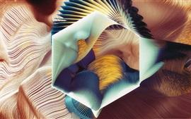 Абстрактный узор, шестиугольник, художественный дизайн