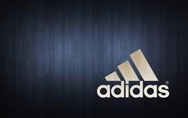 Logotipo da Adidas, fundo de madeira