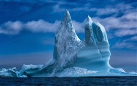 Preview wallpaper Baffin Bay, iceberg, sea, Greenland