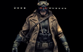Preview wallpaper Batman, fiction, glasses, coat, darkness background