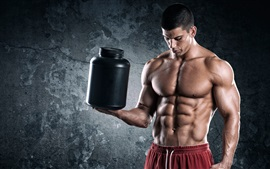 Preview wallpaper Bodybuilder, man, muscles, power