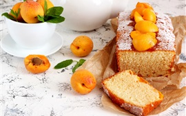 Preview wallpaper Bread, apricots, food