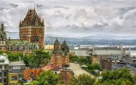 Canadá, quebec, chateau frontenac, hotel
