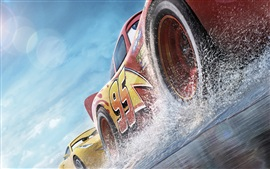 Preview wallpaper Cars 3, speed, water splash