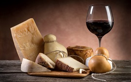 Preview wallpaper Cheese, wine, glass cup