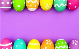Preview wallpaper Colorful Easter eggs, pink background