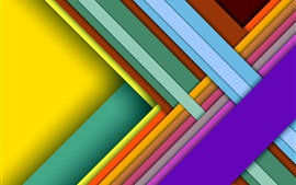 Preview wallpaper Colorful crossing, layers, shadows, abstract