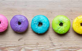 Colorful donuts, rainbow colors