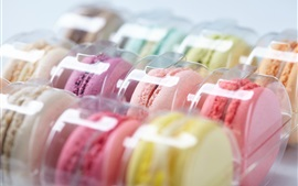 Preview wallpaper Colorful macaroon, cookies, package