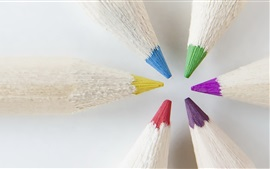 Preview wallpaper Colorful pencils, point, blurry