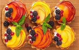 Preview wallpaper Dessert, cake, apples, currants