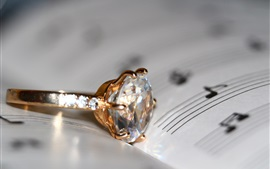 Preview wallpaper Diamond ring, book