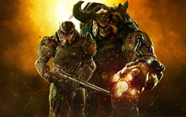Preview wallpaper DooM 2016, soldiers