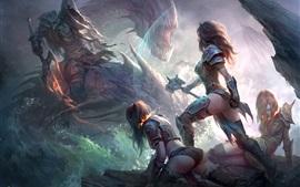 Dragons of Eternity, imagen del arte del juego, chica, guerrera