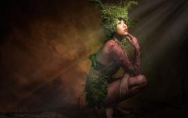 Fantasiemädchen, Asiat, Anlagen, Kunstphotographie