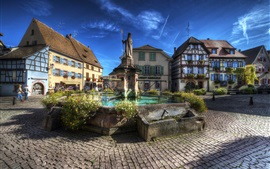 Preview wallpaper France, Eguisheim, monument, city, buildings