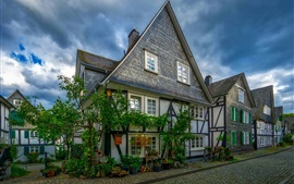 Preview wallpaper Germany, Freudenberg, city, street, houses