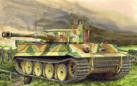 Heavy tank, art picture